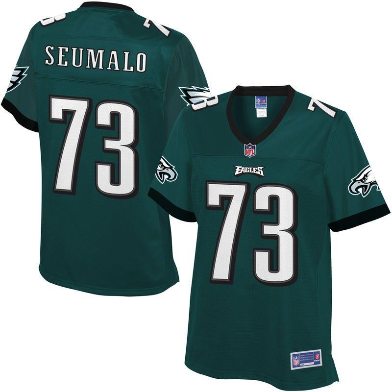 59de67e30 Isaac Seumalo Philadelphia Eagles NFL Pro Line Women's Player Jersey - Midnight  Green