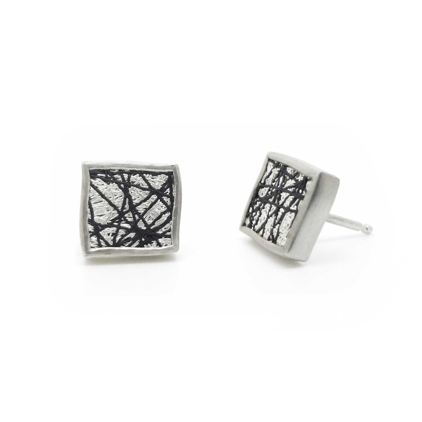 c82ea109e ORRO.co.uk - Gill Galloway Whitehead – Silver Stud Earrings - ORRO  Contemporary Jewellery Glasgow.