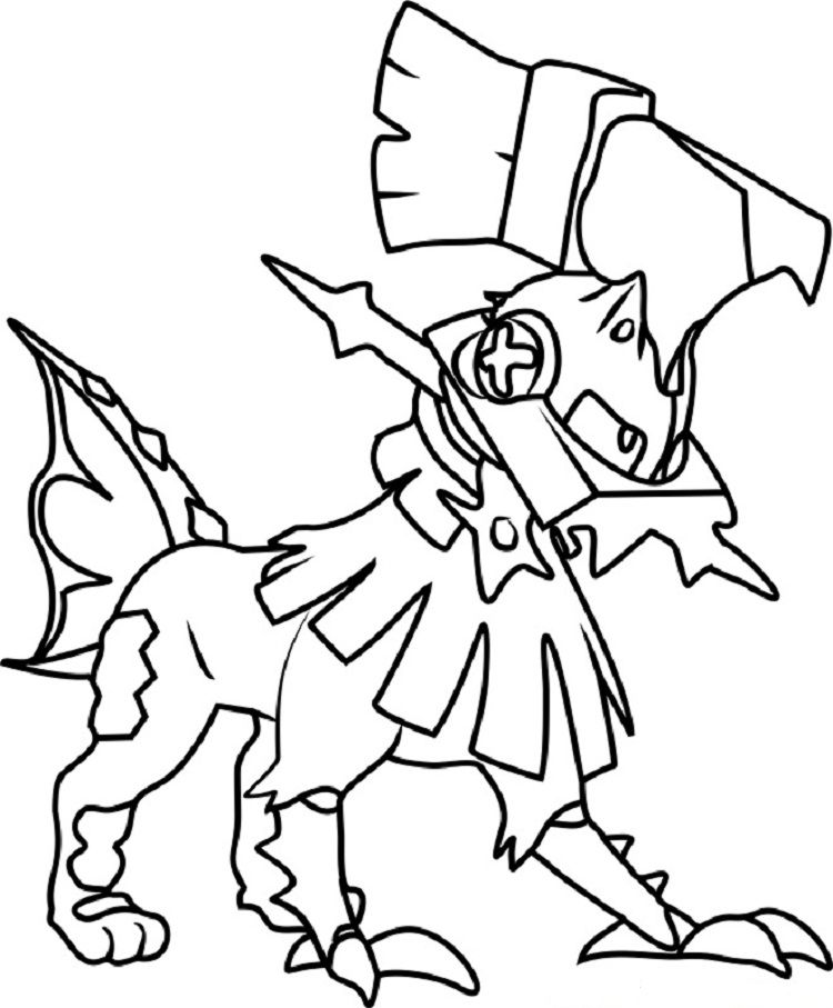Pokemon Coloring Pages Solgaleo Pokemon Coloring Cartoon