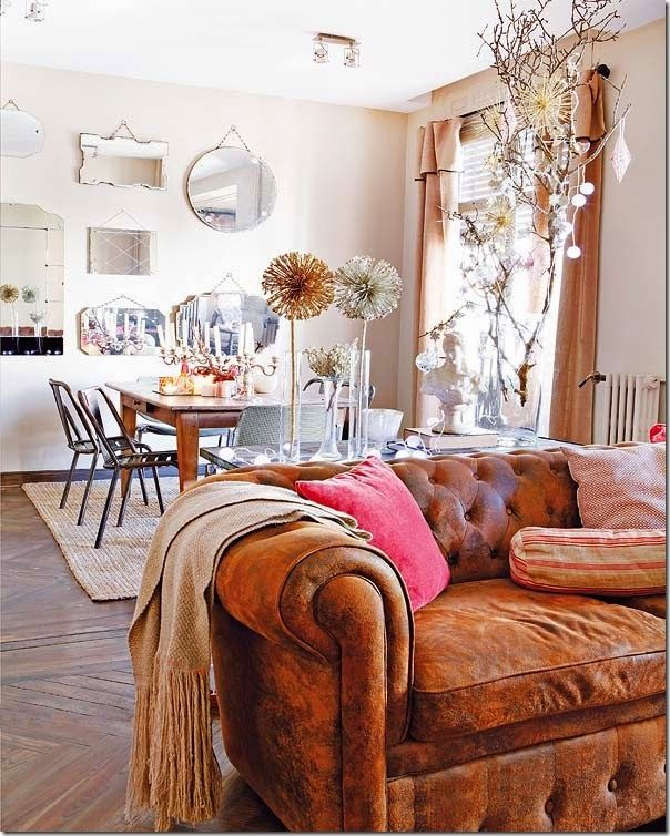 Sofa Caramelo Couro Antigo Chesterfield Interieur Pesquisa