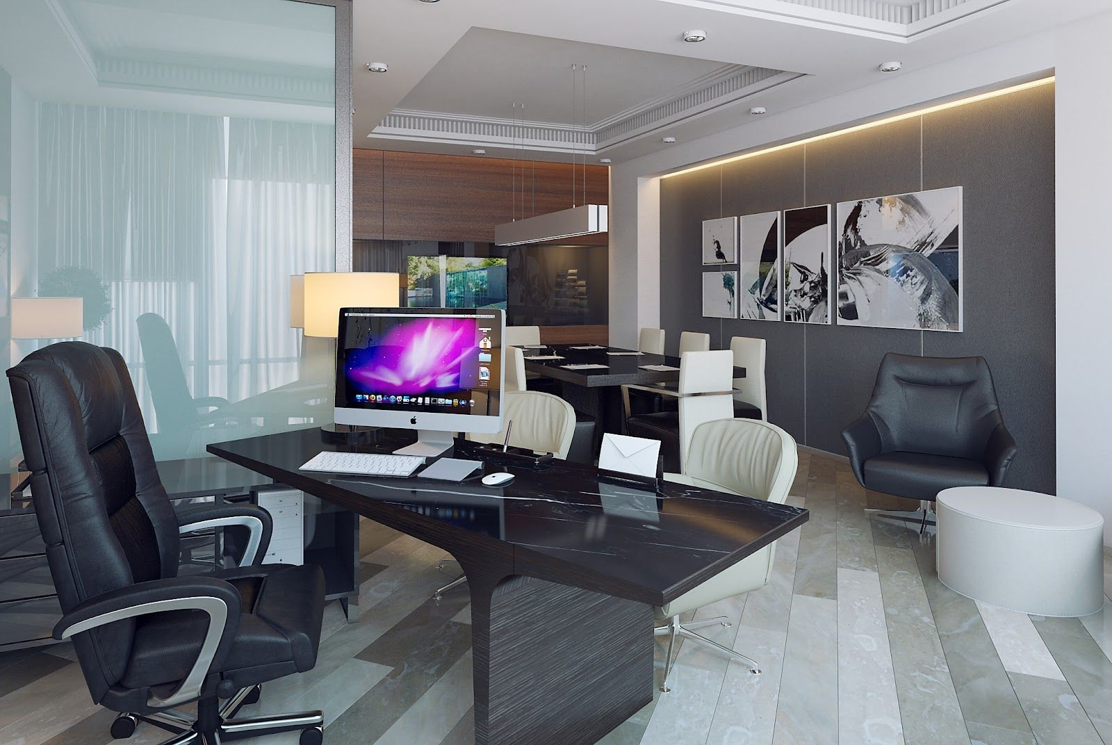 3d Design Office Of Executive Director Cool Rooms Room Interior Design