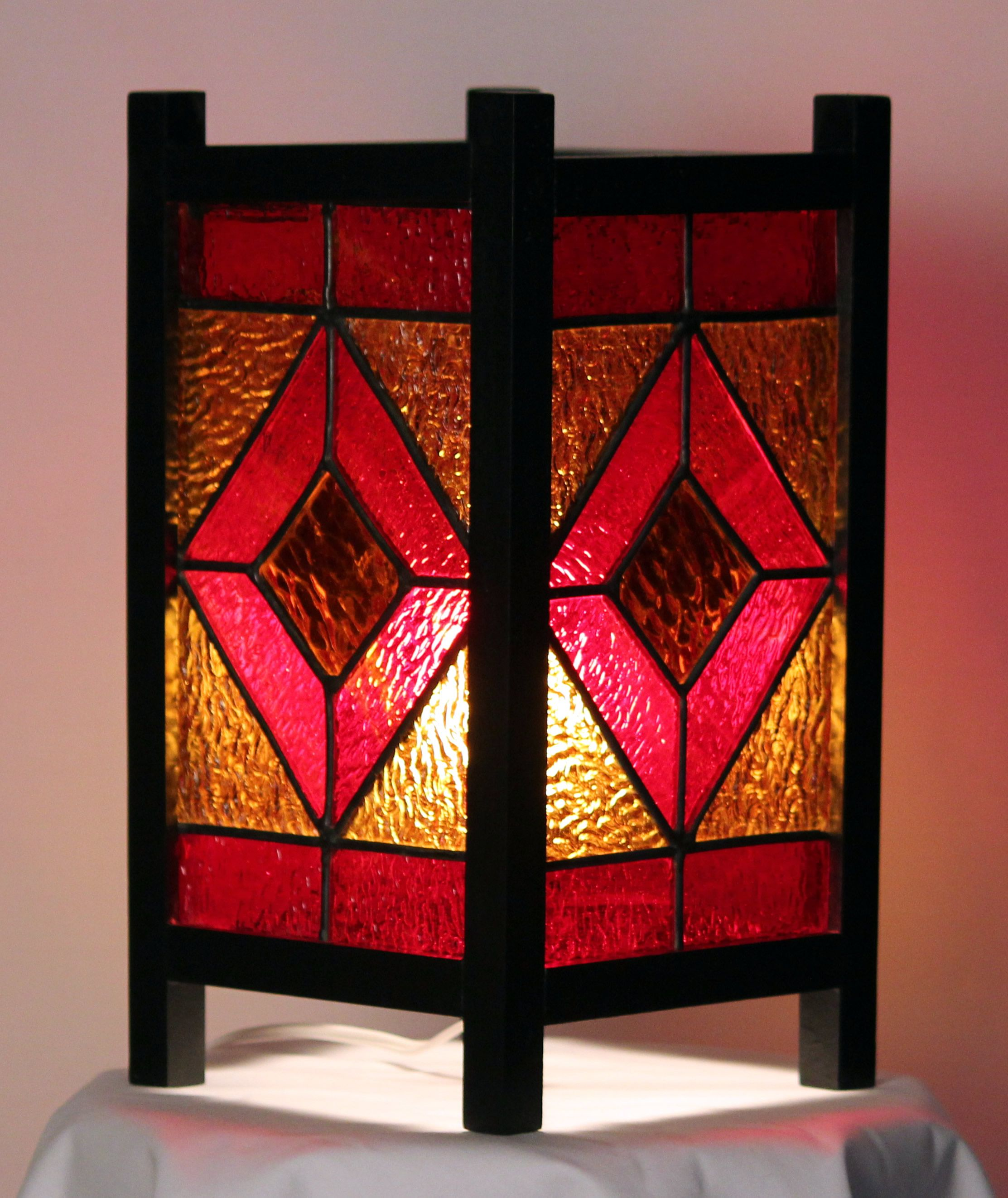 Stained Glass Retro Style Lamp Or Table Lantern