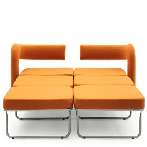 Orange Armchair In Single Bed Converted By Giulio Manzoni For Campeggi Decoration Top Orange Armchair Single Bed Armchair