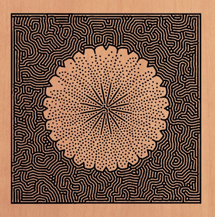 Maze flower Generative art, Examples of art, Pattern