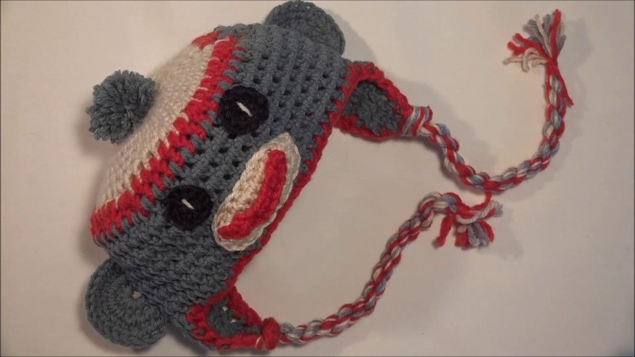 Gorro monito a crochet.monkey hat sock monkey hat crochet