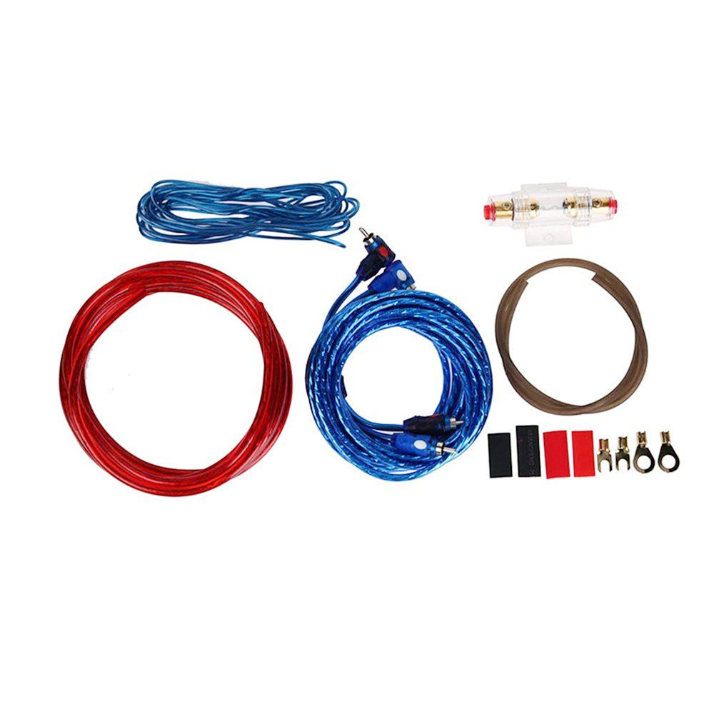 1 Set Car Audio Connected 4 Gauge Amp Wire Wiring