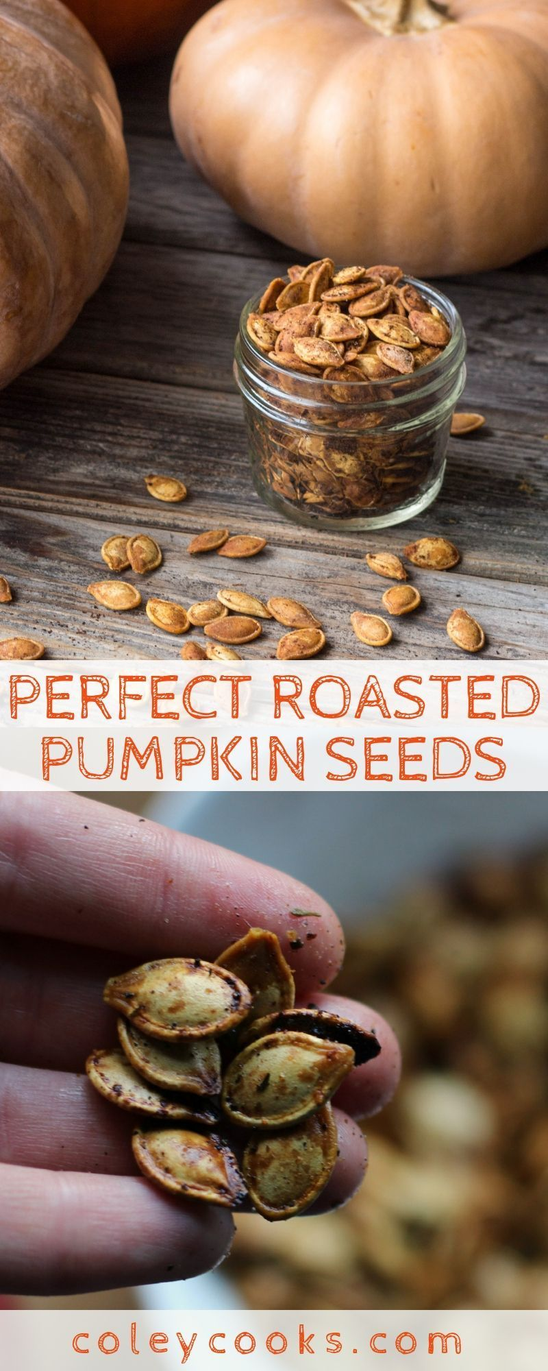 PERFECT ROASTED PUMPKIN SEEDS | This foolproof way for roasting pumpkin seeds produces the crunchiest, best pumpkin seeds ever! #pumpkin #pumpkinseeds #pumpkincarving #recipe #method #technique #blanching #seeds | ColeyCooks.com #roastedpumpkinseedsrecipe PERFECT ROASTED PUMPKIN SEEDS | This foolproof way for roasting pumpkin seeds produces the crunchiest, best pumpkin seeds ever! #pumpkin #pumpkinseeds #pumpkincarving #recipe #method #technique #blanching #seeds | ColeyCooks.com #roastedpumpkin #roastedpumpkinseeds