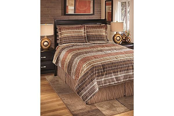 The Wavelength 4-Piece Queen Comforter Set from Ashley Furniture