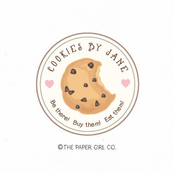 cookie logo bakery logo baking logo bakers logo premade logo buku buatan sendiri desain logo stiker cookie logo bakery logo baking logo