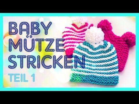 Bärchen-Mütze, Babymütze in zwei Größen (auch schriftl.) - YouTube ...