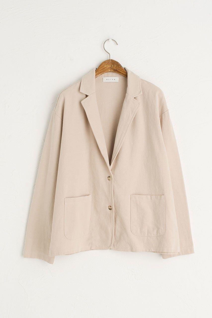 La Simple Cotton Jacket Ivory Cotton Jacket Jackets Cotton