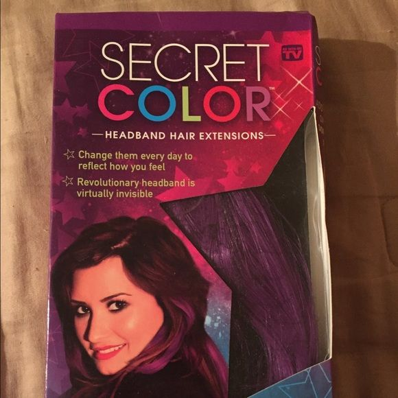 Demi Lovato Secret Color Purple Hair Extension Purple Hair