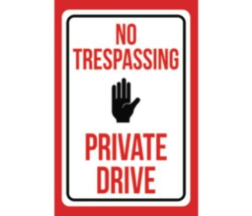 """POSTED NO MOTORIZED VEHICLES NO TRESPASSING HEAVY DUTY ALUMINUM SIGN 10/"""" x 15/"""""""