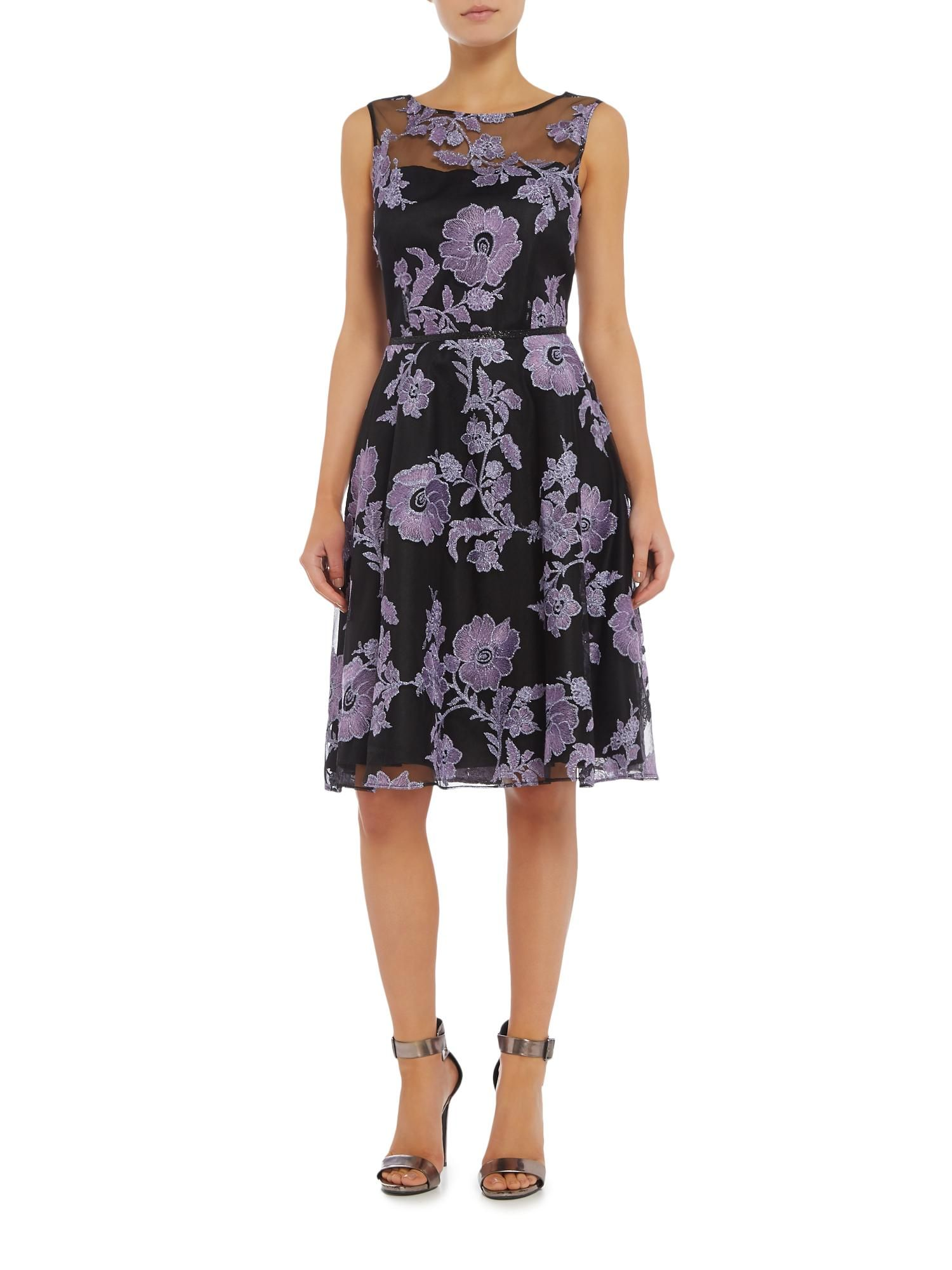 55766016423c Buy your Tahari ASL Illusion Embroidered Fit & Flare Occasion Dress online  now at House of Fraser. Why not Buy and Collect in-store?