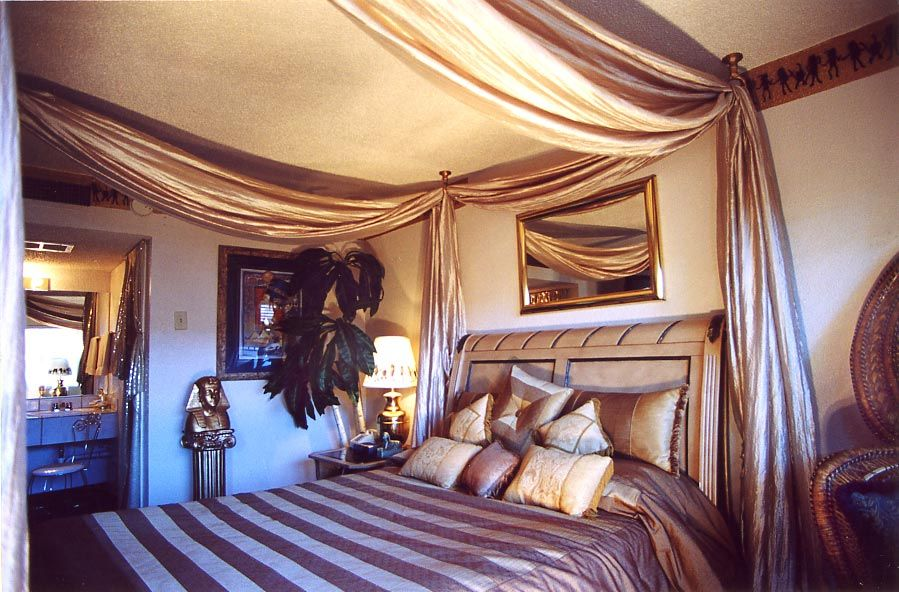 A las vegas hotel on the strip egyptian theme hotel rooms home decors pinterest theme for Bedroom furniture las vegas nv