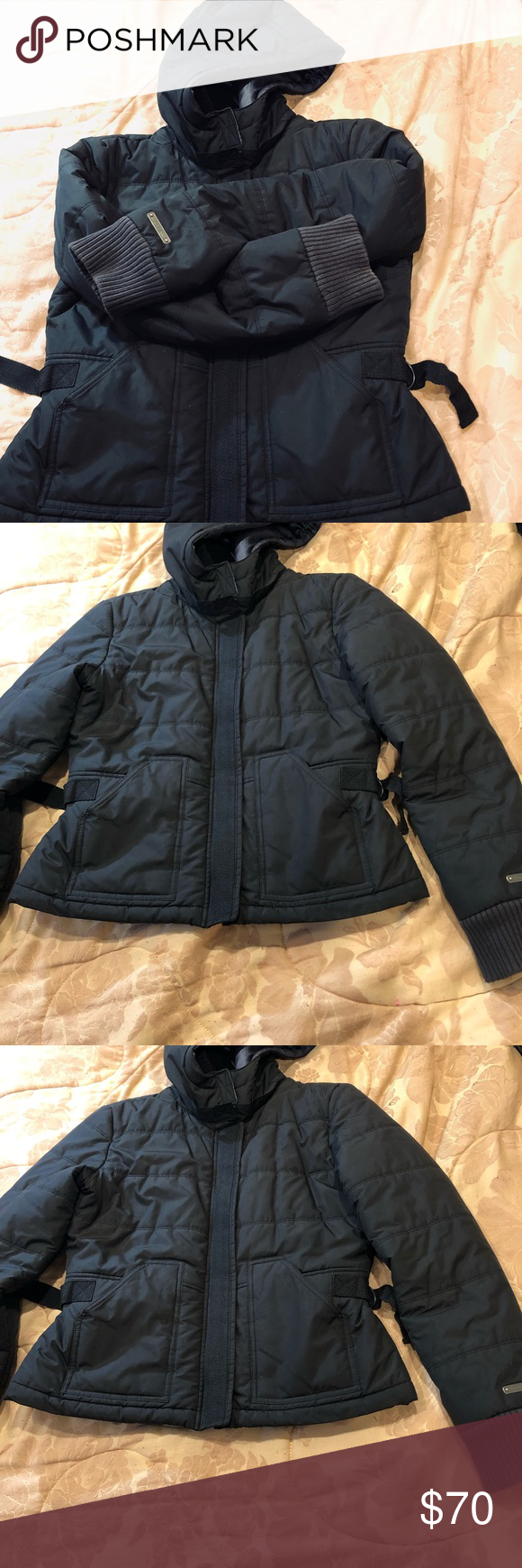 Rare Dkny Active Puffer Down Hooded Black Jacket Black Jacket Coats Jackets Women Jackets [ 1740 x 580 Pixel ]