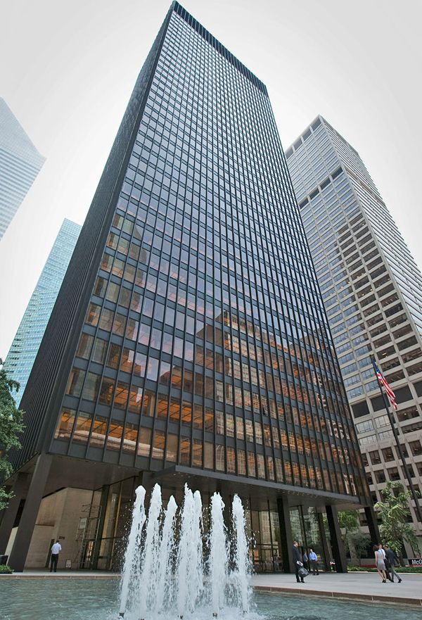 Seagram Building New York 1958 By Ludwig Mies Van Der Rohe Http