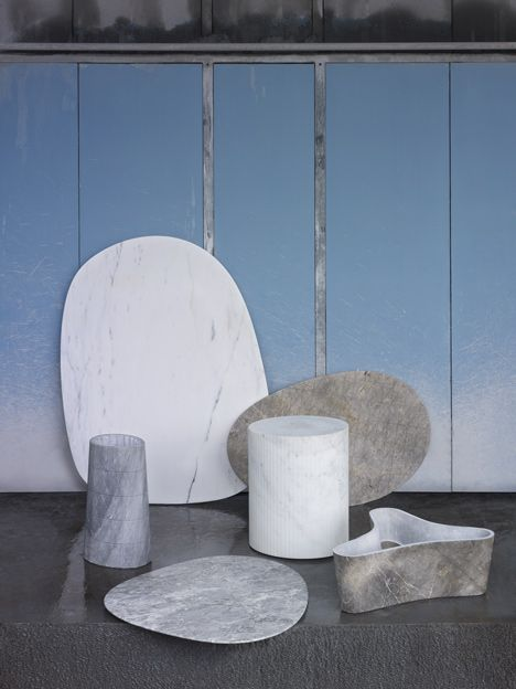 Scholten & Baijings carve geometric patterns into marble table collection - http://www.decorationarch.com/architecture-ideas/scholten-baijings-carve-geometric-patterns-into-marble-table-collection.html
