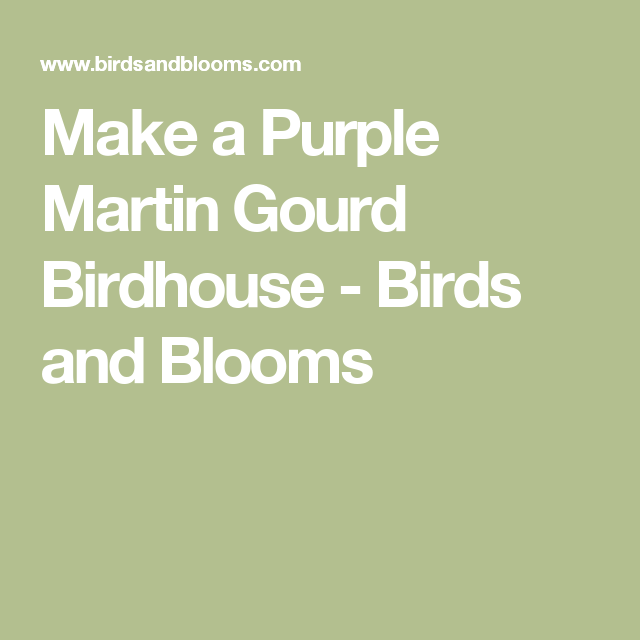 how to make a gourd birdhouse