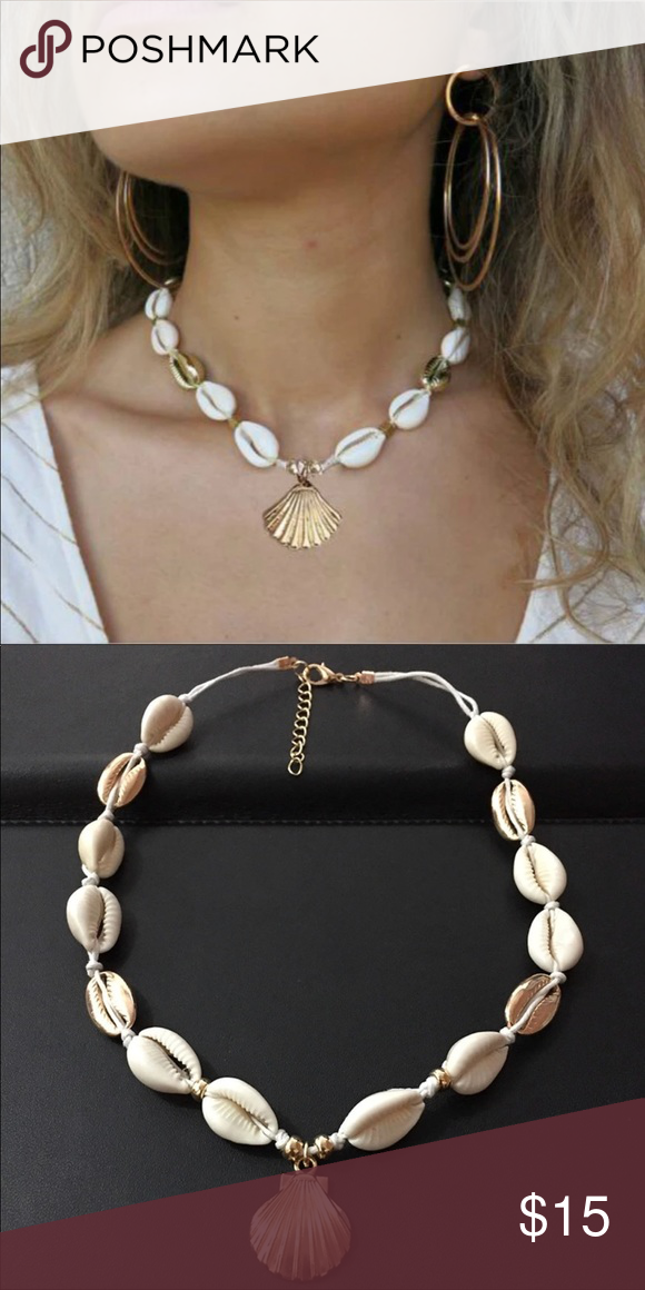 Photo of Gold Cowrie Shell Choker Necklace Cute Summer Staple !!! Perfect for your summer …