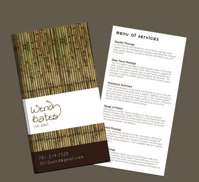 massage therapy brochures – Massage Brochure