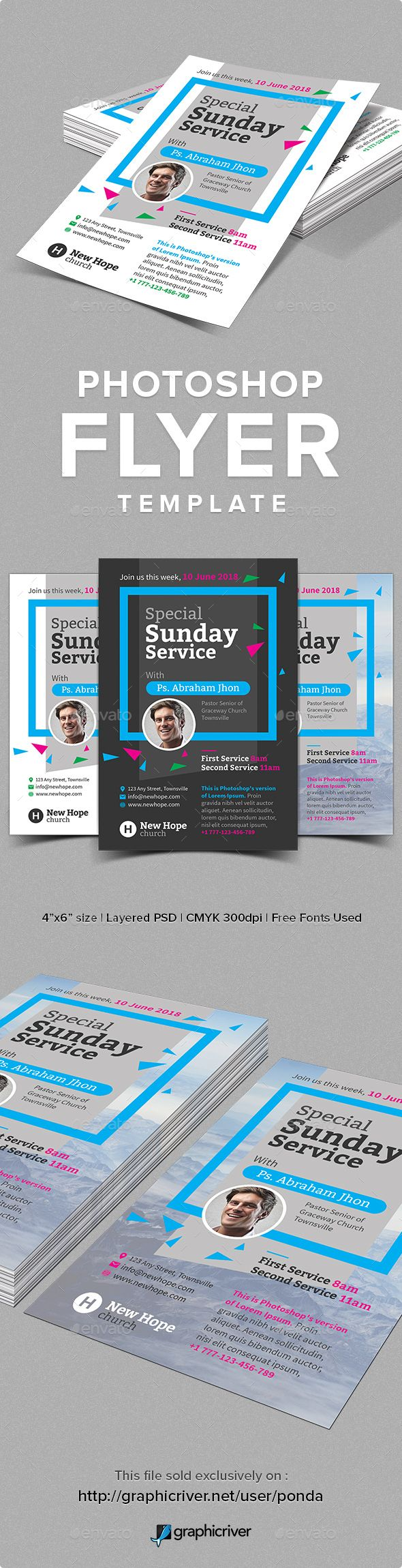 Pin By Bashooka Web Graphic Design On Top Church Flyer Template