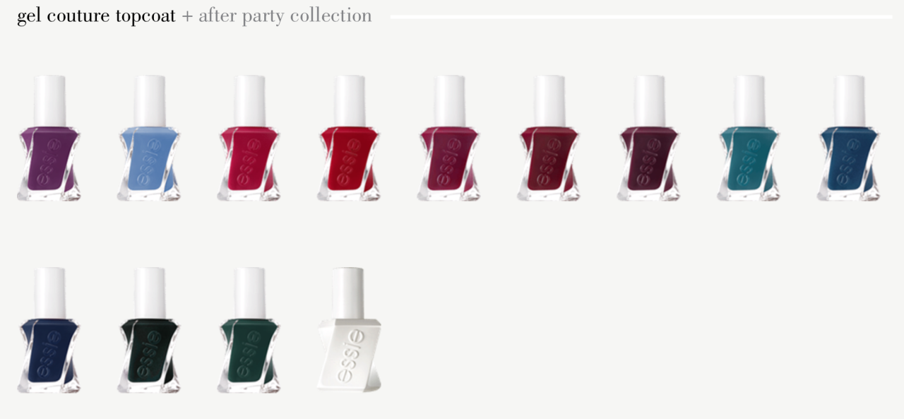 essie gel couture after party collection deeps