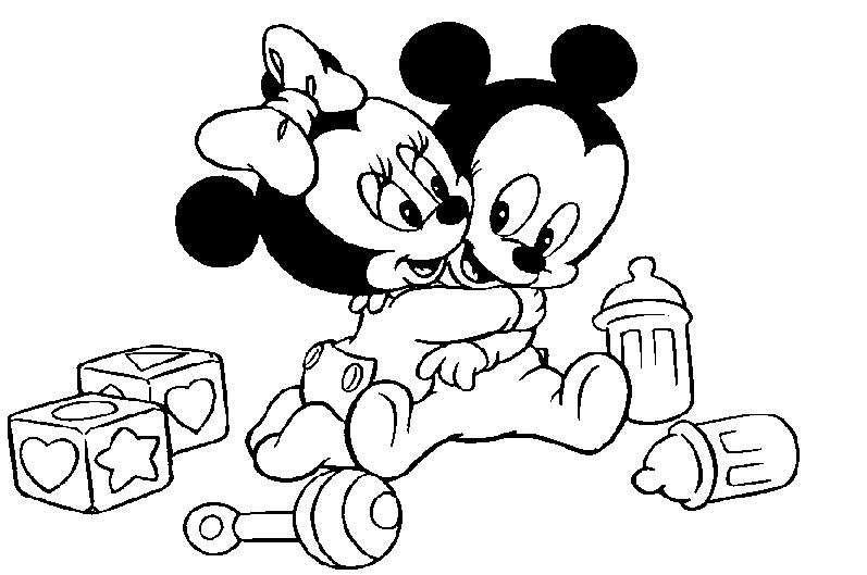 Coloriage Mickey Et Minnie A Imprimer En Ligne Et Gratuit Minnie Et Mickey Bebes Jouent Ensemb Coloriage Mickey Coloriage Mickey A Imprimer Coloriage Disney