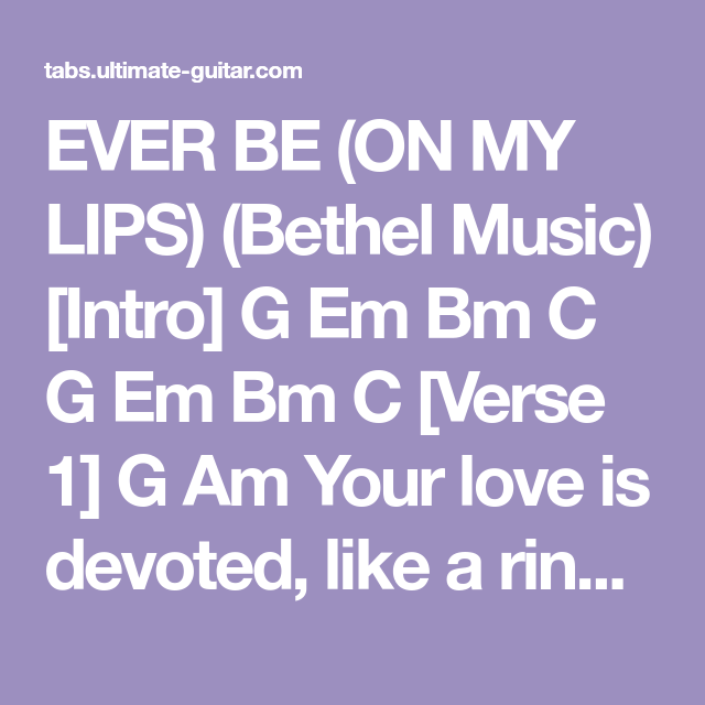 ever be chords pdf g