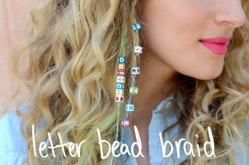 Diy Letter Bead Braid Diy Hair Accessories Hair Beads Letter Beads