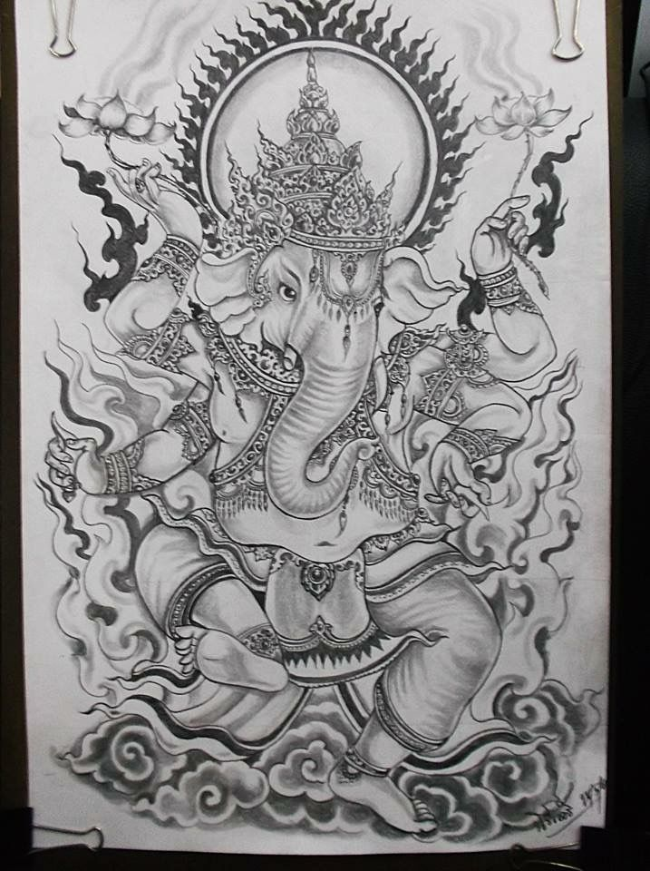Ganesh Elephant Art 象神 Pinterest Tatuajes Tatuaje Maori And