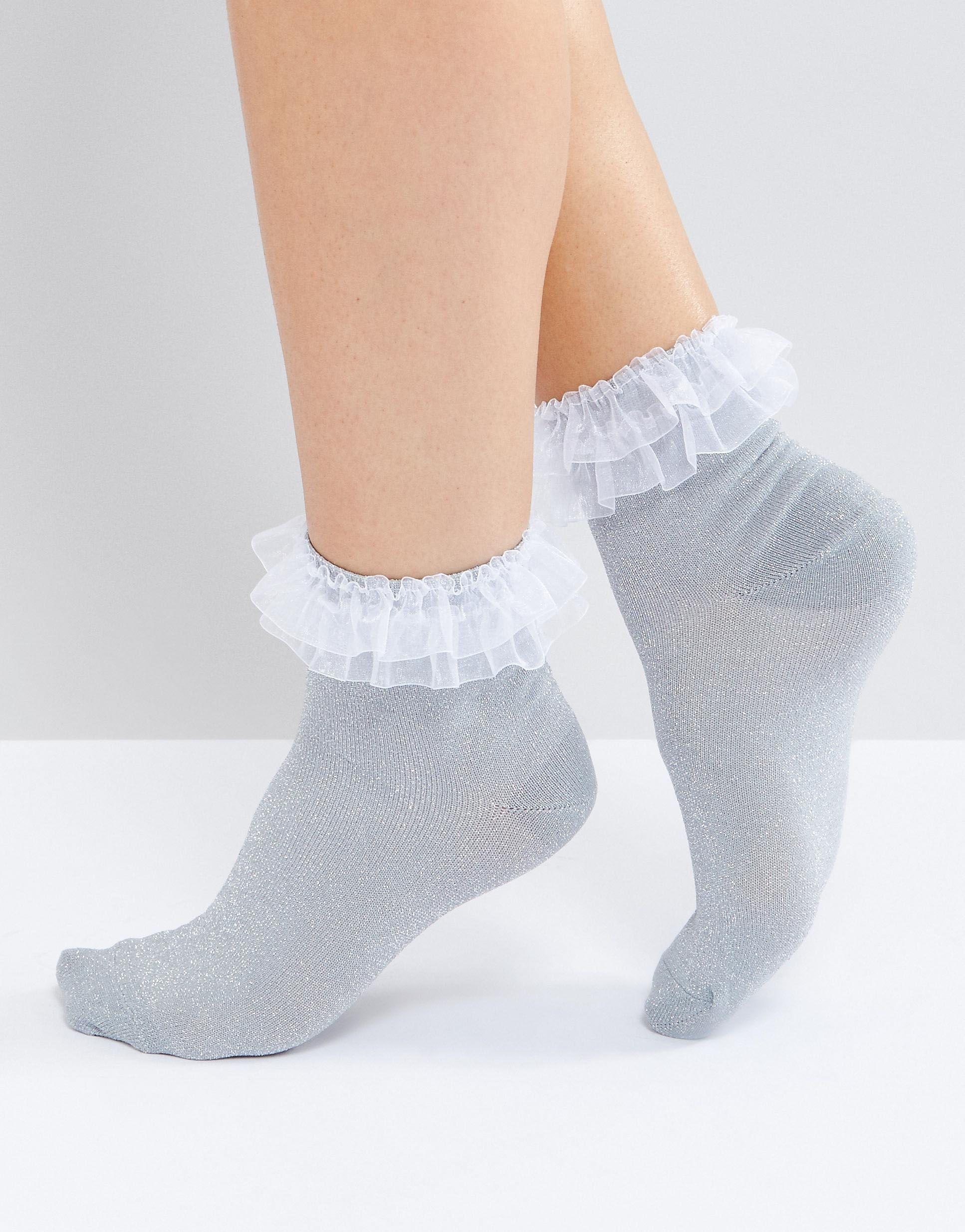 Sommer Baby Kleinkind Baumwollspitze Rüschen Prinzessin Mesh Socke Söckche CL