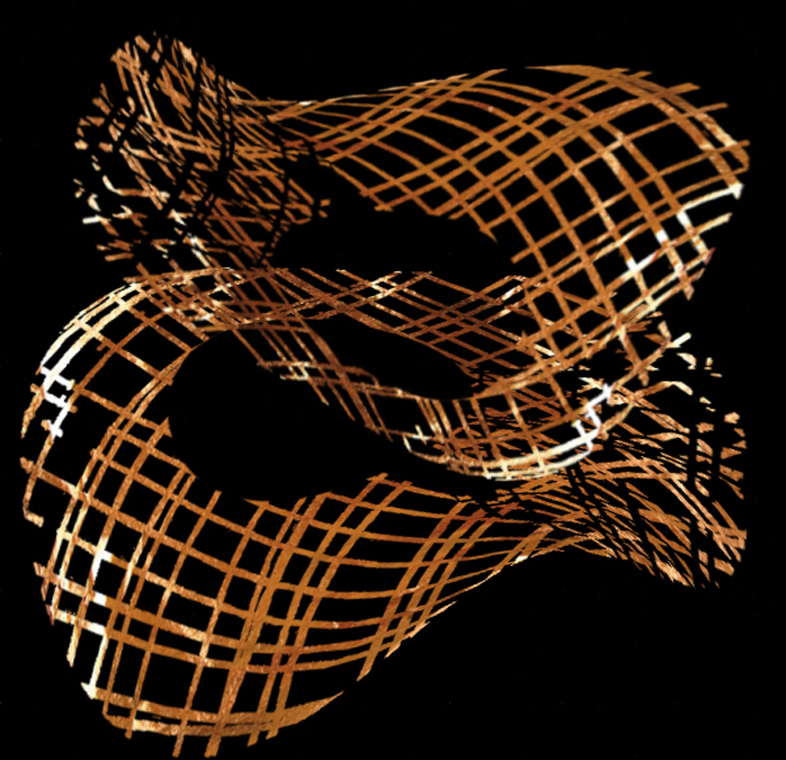 """Weave"", Verre Eglomise in 22k genuine gold leaf"