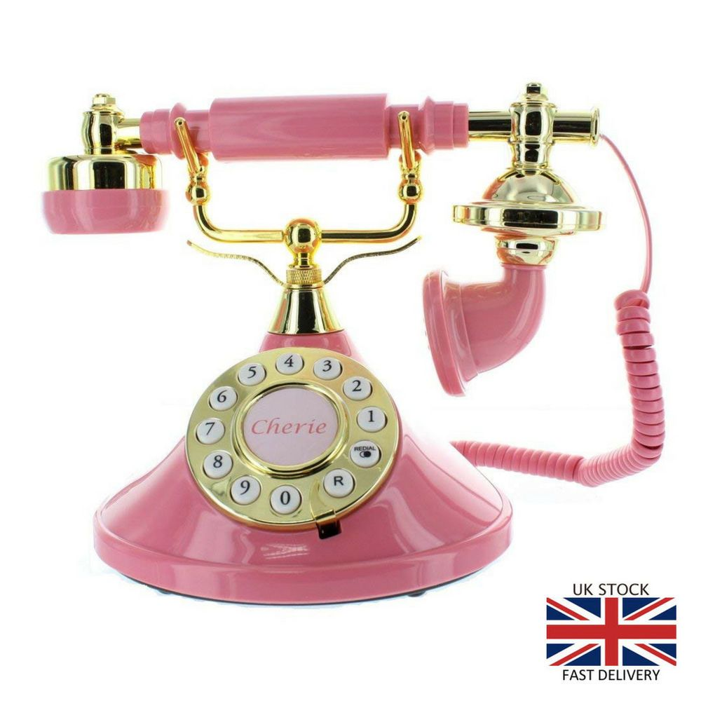 Details About Mybelle Cherie Deluxe Telephone Vintage Rose Pink Phone Home Office Retro Calls In 2020 Retro Phone Vintage Phones Antique Phone