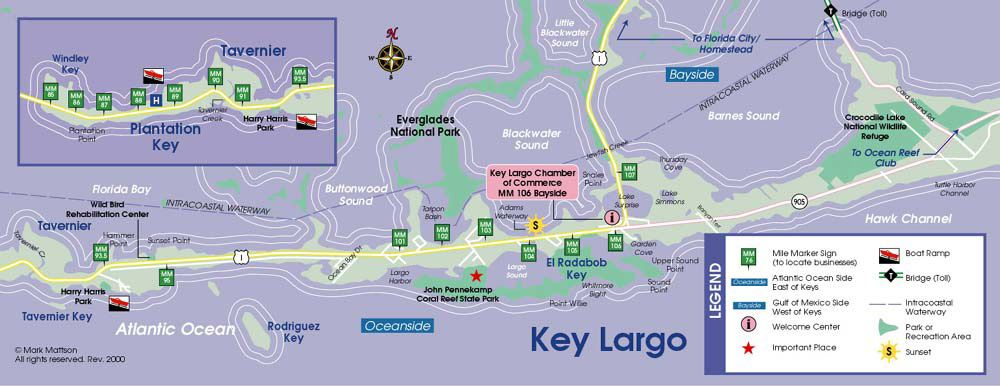 Find Florida Keys map information here at FlaKeys – Key Largo Tourist Attractions Map