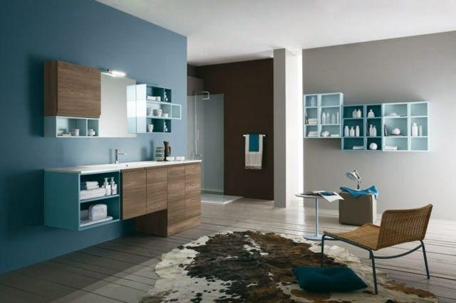 salle de bain bleu et gris de bois dans une collection assez classique meubles salle bains. Black Bedroom Furniture Sets. Home Design Ideas