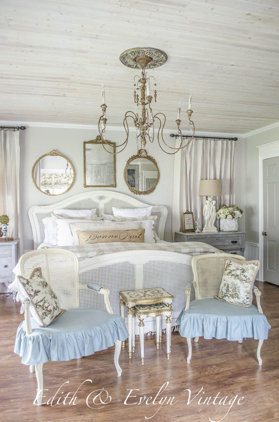Transformation master bedroom edith evelyn vintage for French country master bedroom