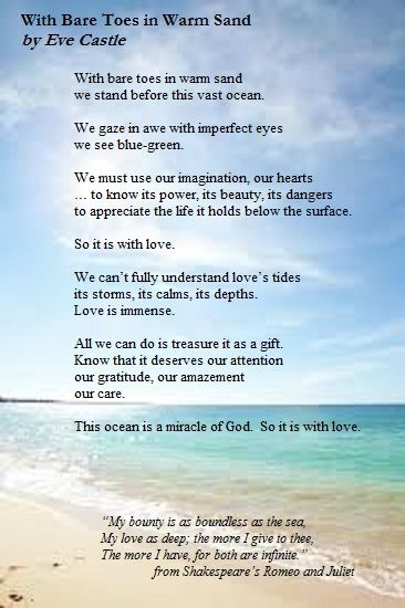 Poem For A Beach Wedding I Wrote This Friends Some Years Ago
