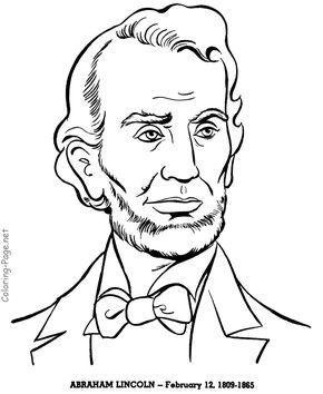 Abraham Lincoln Us President Coloring Pages For Presidents Day