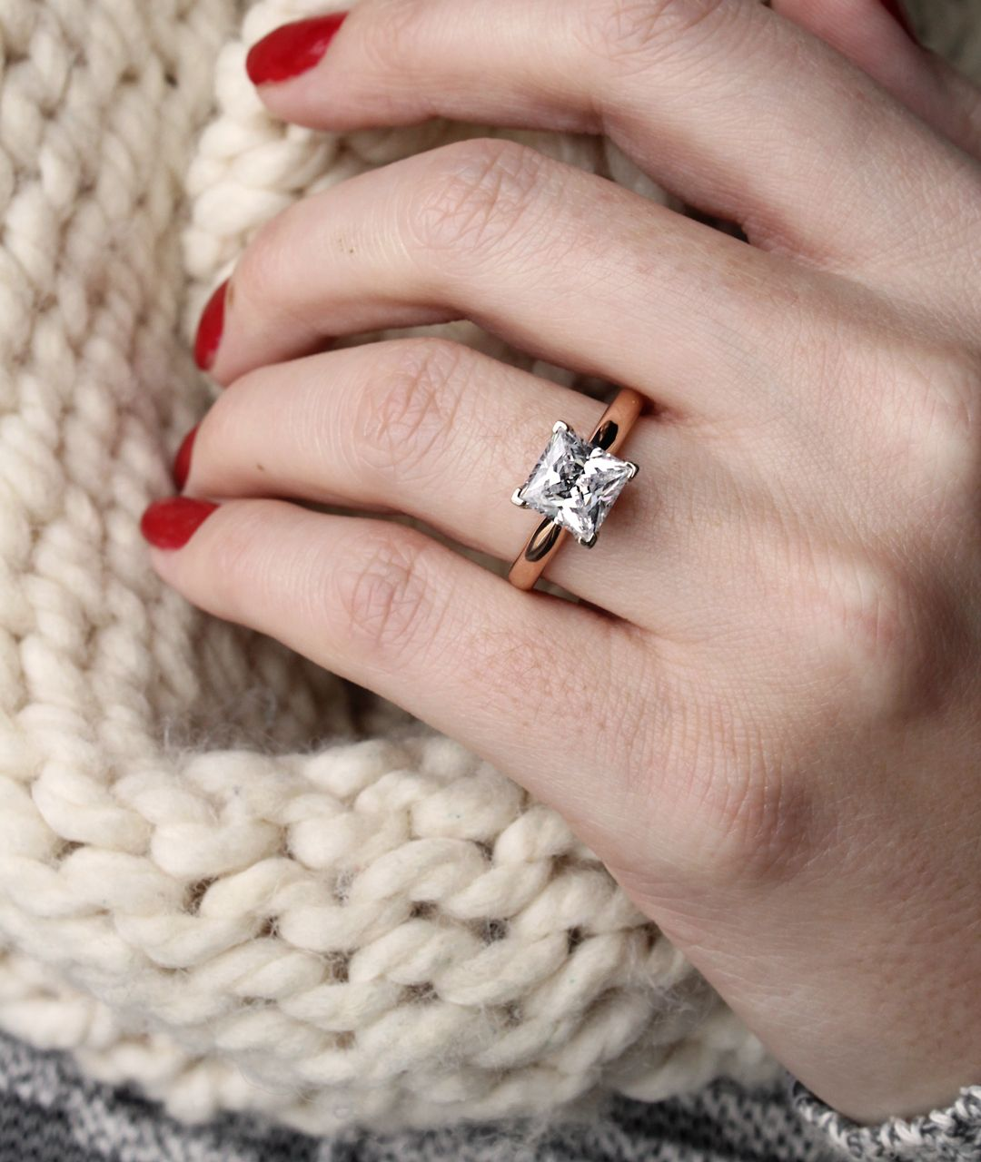 A classic solitaire ring goes with everything, in summer, fall ...