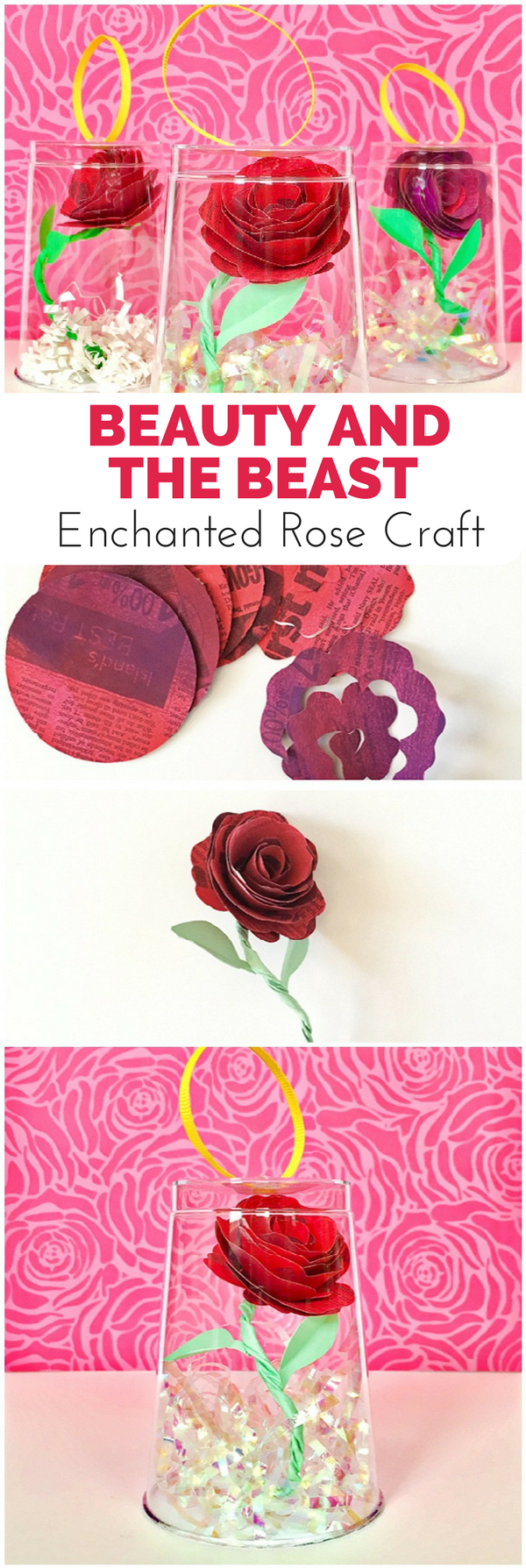 Beauty And The Beast Enchanted Rose Craft Rainy Day Activities