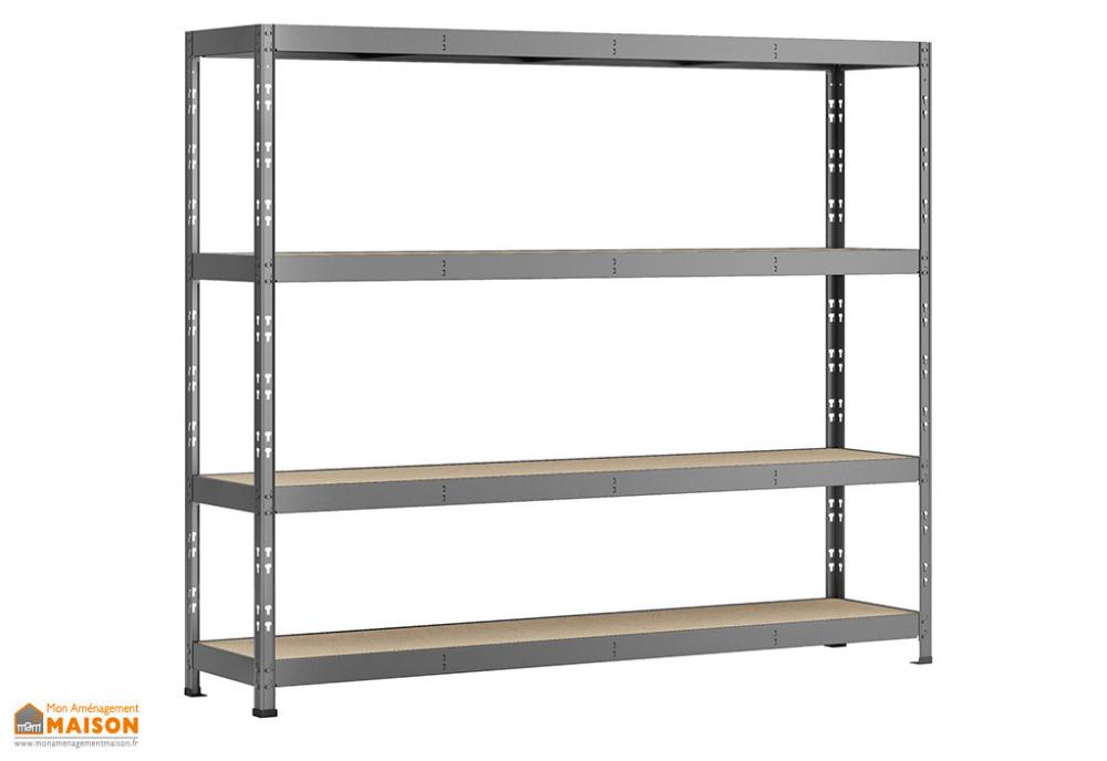 Etagere Rack En Acier Avec 4 Plateaux 60 X 220 X 185 Cm Modulo Storage Etagere Rack Etagere Metallique Etagere