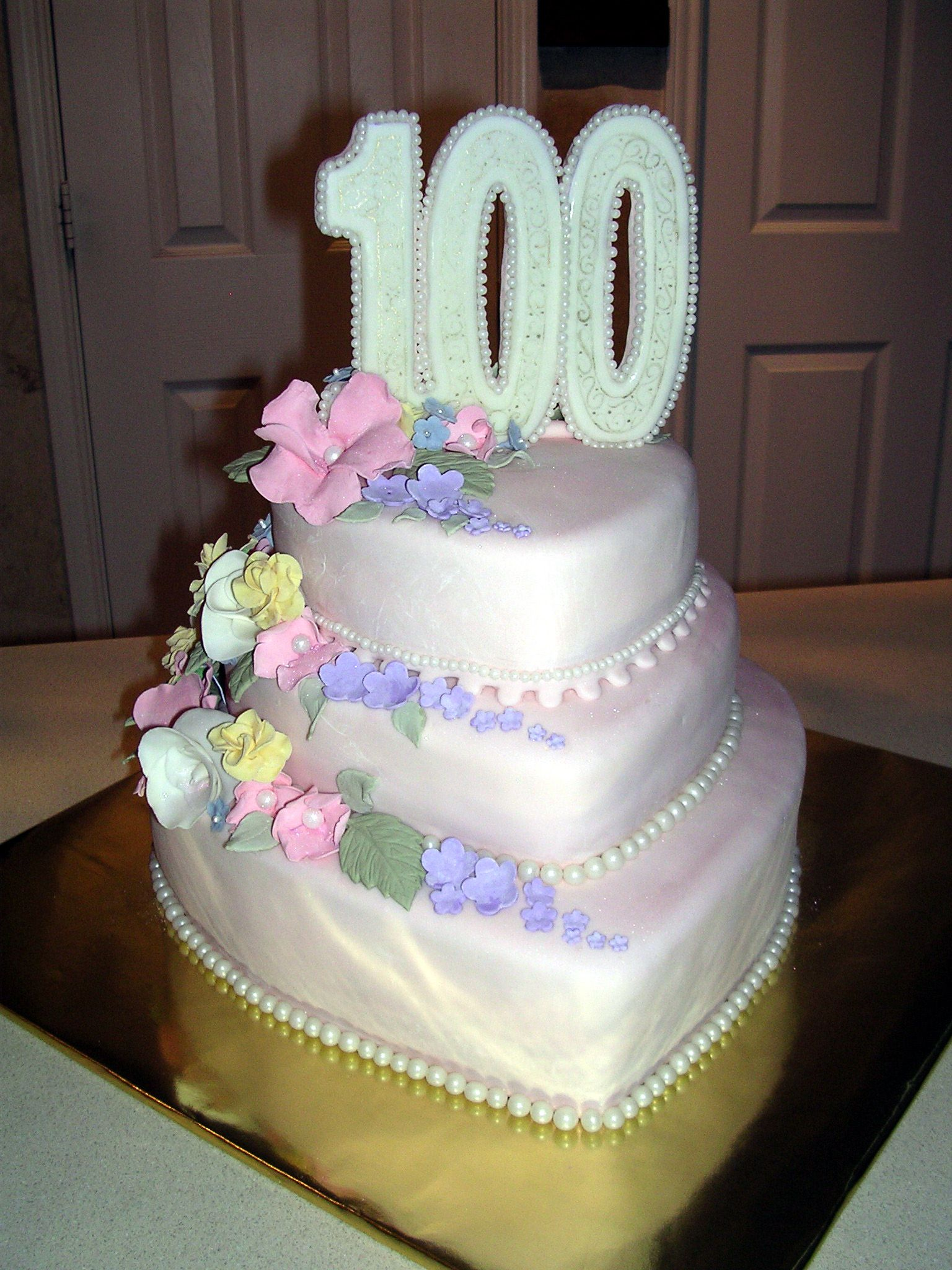 100th Birthday Cake Fondant Designs Cakes 100 Years Celebration Music