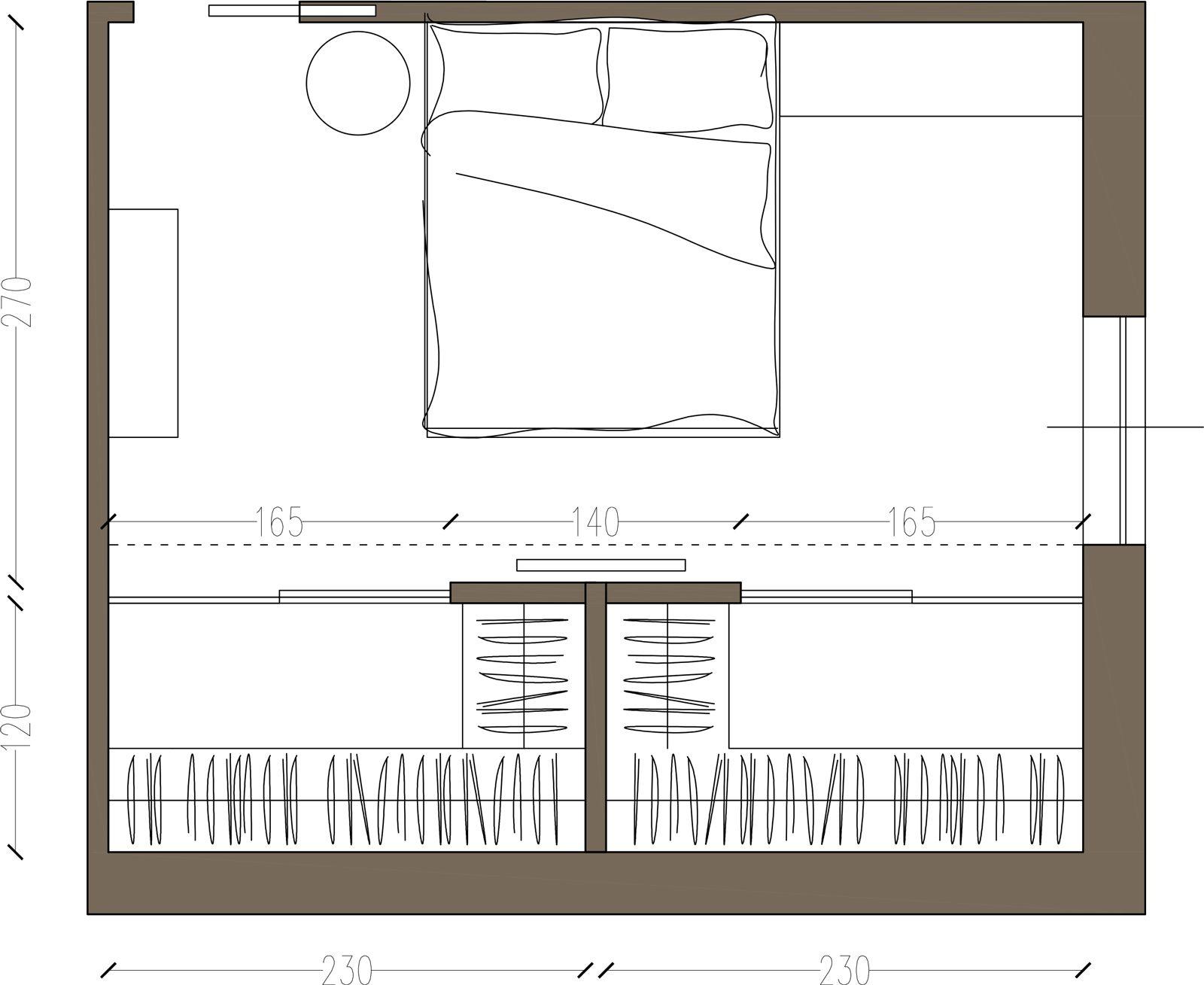Cabina armadio due soluzioni per ricavarla pinterest for Progetti di cottage sulla spiaggia e planimetrie