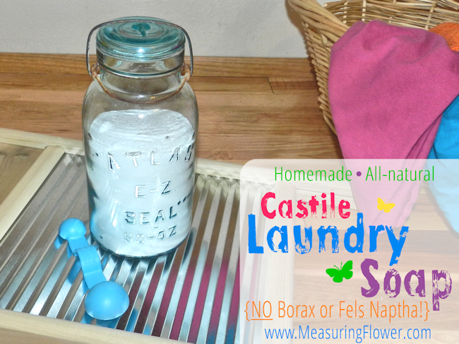 Homemade All Natural Castile Laundry Soap Recipe Diy Laundry
