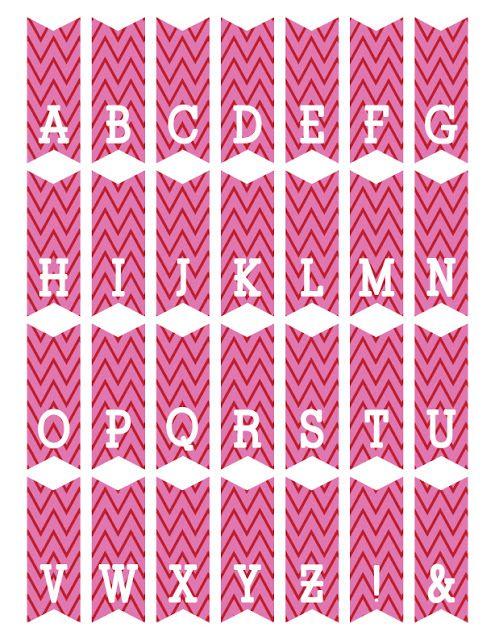 Fontaholic Freebie Friday Mini Alphabet Bunting Free Printable Banner Bunting Template Bunting