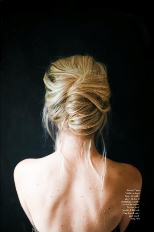 Trendiest Updos For Medium Length Hair Messy French Twists - Diy chignon boheme