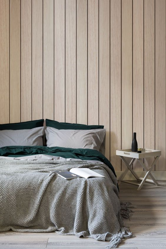 Contemporary Wooden Cladding Wallpaper Mural Hovia Wood Walls Bedroom Wall Panels Bedroom French Country Living Room Furniture