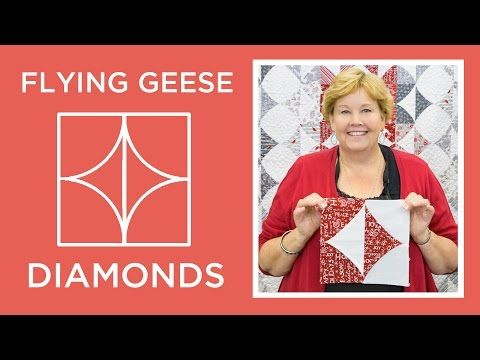 Make a Flying Geese Diamonds Quilt (Missouri Star Quilt Company ... : quilting tutorials on youtube - Adamdwight.com