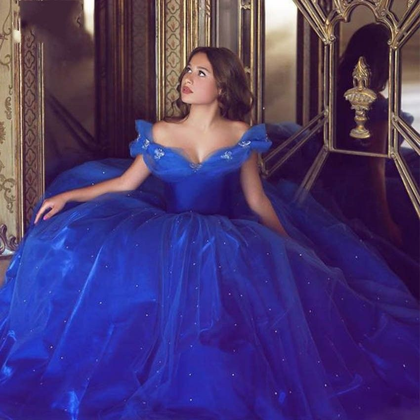 Cinderella Royal Blue Quinceanera Dresses Butterfly 15 Birthday Party  Masquerade Gown Sweet 16 Dress Ball Gowns 7aaf016f467f